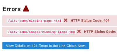 Broken links on Joomla Website