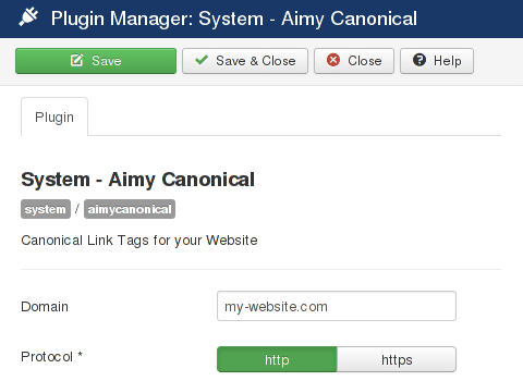 Aimy Canonical configuration