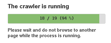 Progress bar for the sitemap crawler