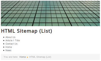 New HTML sitemap view: list