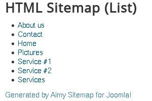 Aimy Sitemap credits paragraph