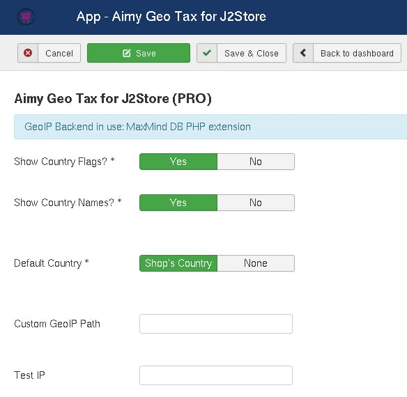 Aimy Geo Tax for J2Store for Joomla! | Aimy Extensions