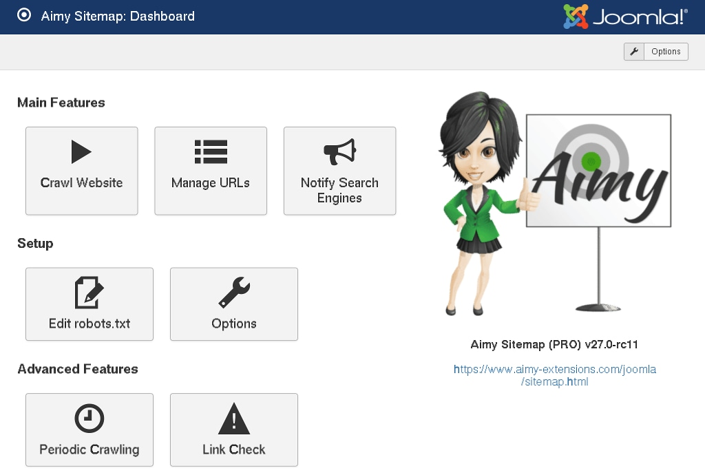 aimy sitemap for joomla aimy extensions