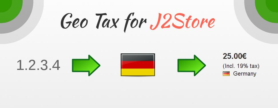 Show Country Flag and Tax in J2Store Shops